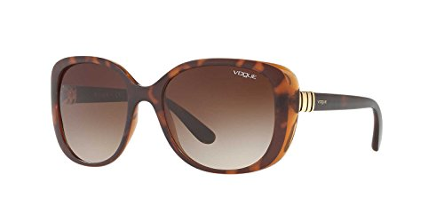 Ray-Ban Women's Plastic Woman Rectangular Sunglasses, Top Havana/Brown, 55 - Love Ray Ban