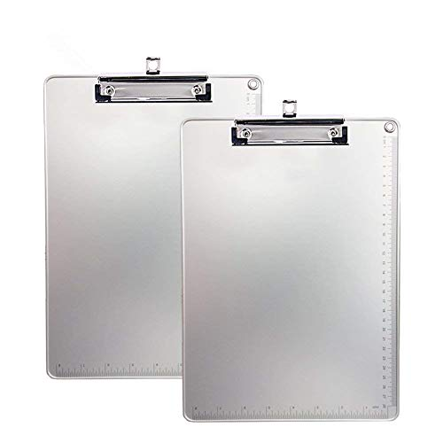 Aluminum Clipboard, Kakbep Recycled Heavy Duty with Strong Clip 9x12.5 Letter Size, File A4 Binder Holder for Office School Worker Business by Kakbpe