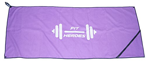 Fit Heroes Sport Handtuch Fitness Handtuch Mit Extra Fach