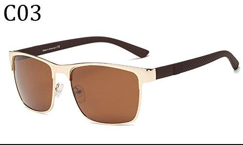 C3 C1 Gafas para UV para Mujer Sol Protección Polarizadas 400 Hombre De Aviator q1Fw7
