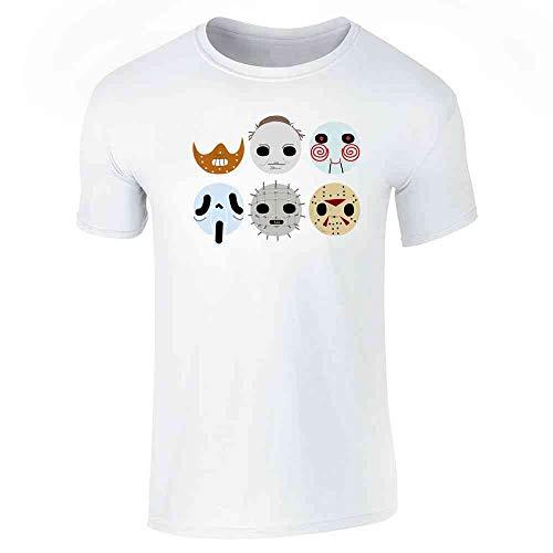 Horror Masks Halloween Costume Monster White L Short Sleeve -