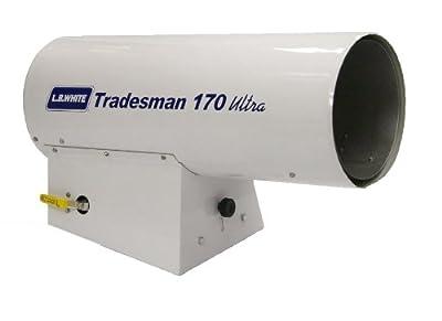 L.B. White CP170NU Tradesman 170N Ultra Portable Forced Air Natural Gas Heater, 170,000 Btuh