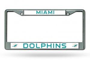 Miami Dolphins Chrome Frame - Shop Online Miami