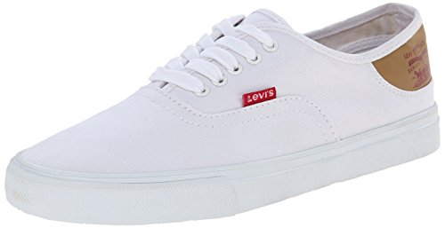 Levis Men's Jordy Buck Fashion Sneaker, White/Brown, 10 M US