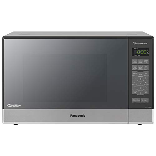 Panasonic Microwave Oven NN-SN686S Stainless Steel Countertop/Built-In with Inverter Technology and Genius Sensor, 1.2 Cu. Ft, - Range Control White Panel
