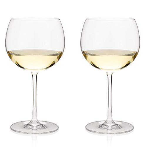 The Best Chardonnay Long Stem Wine Glasses, Restaurant Sommelier Set of 2