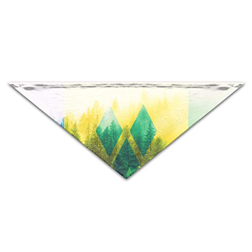 OLOSARO Dog Bandana Saint Vincent and The Grenadines Flag with Forest Triangle Bibs Scarf Accessories for Dogs Cats Pets Animals ()