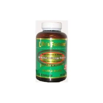 Life's Fortune Multi-vitamin & Mineral All Natural Energy Source Supplying Whole Food Concentrates - 90 Tabs