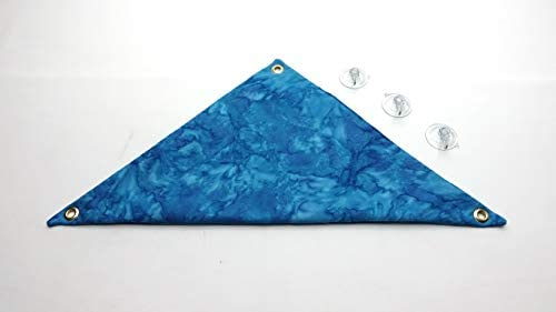 Hammock for Bearded Dragons, Blue Heaven Batik Fabric with Suction Cup Hooks