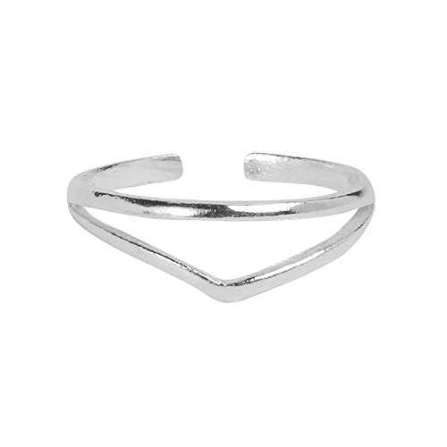 High Polished Sterling Silver Chevron Toe Ring by Kezef (Polished Toe Ring)