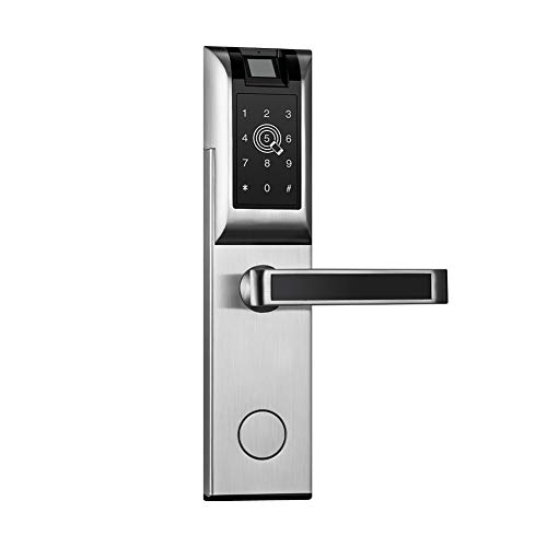 CARIHOME Bluetooth Password Lock Smart Fingerprint Touchscreen Doorlock Advanced Digital Electronic APP Remote Control Lock for Landlord Apartment Rental Room Hotel Door - Locks Landlord