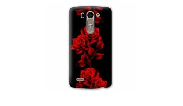 Amazon.com: Case Carcasa LG K10 fleurs - - rose rouge N ...