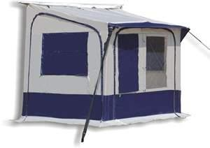 CARAVAN AWNING QUICK FIT PORCH PDQ BLUE UP IN 2 MINS