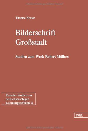 Bilderschrift Großstadt: Studien zum Werk Robert Müllers