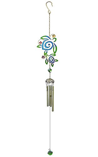 Cheap Welcome to the Islands Hawaiian Style Stained Glass Wind Chime Honu Turtle