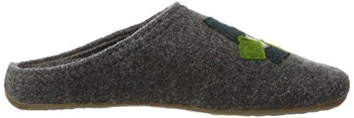 Haflinger Everest Pixel - Pantuflas Unisex adulto Gris (Anthrazit)