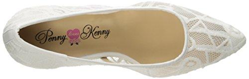 Penny Houdt Kenny Vrouwen Unie Jurk Pomp Wit