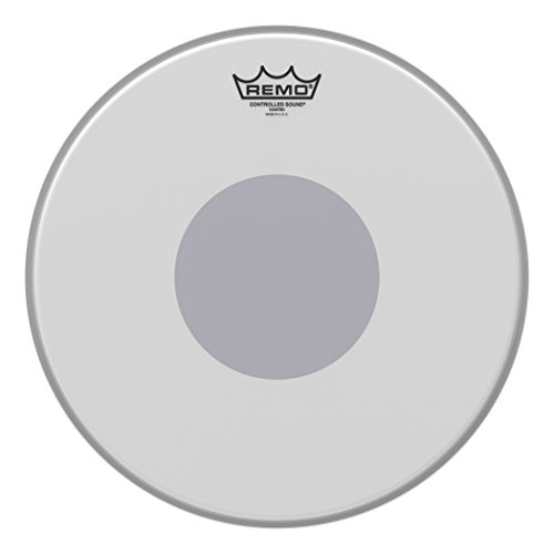 Remo Controlled Sound Coated Drum Head with Reverse Black Dot - 14 Inch ()