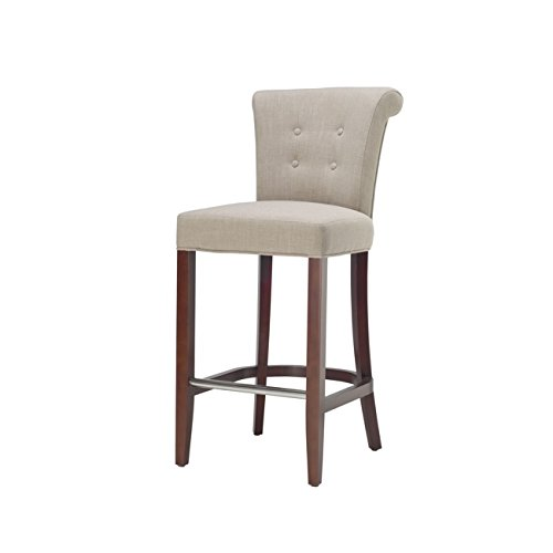 Hudson 24 Bar Stool - Safavieh Hudson Collection Addo Sand Linen 29.7-inch Bar Stool