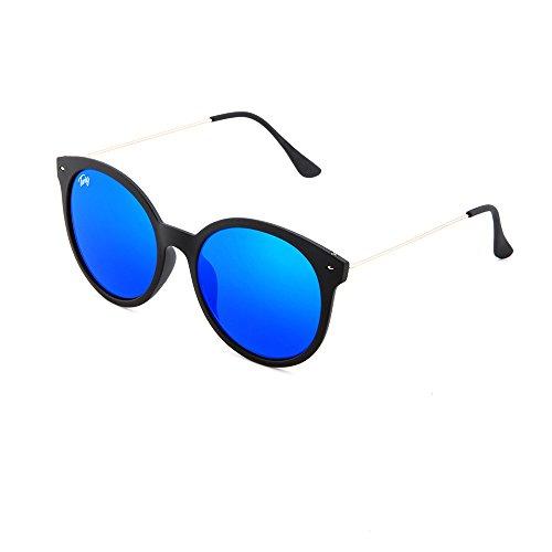 Gafas mujer redondo espejo REMBRANDT sol de Azul Negro TWIG qwrYq4