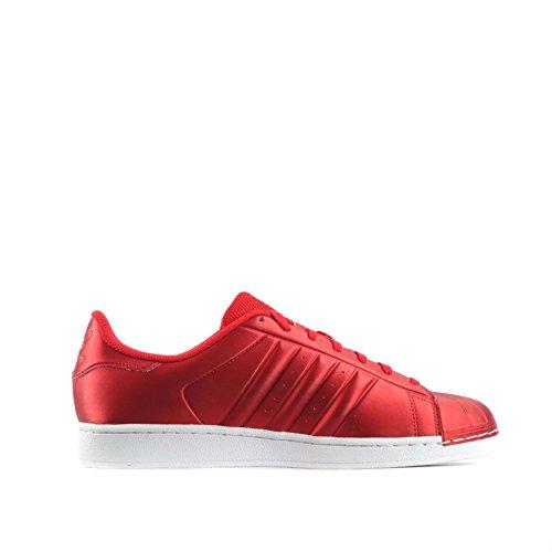 Scarpe Da Ginnastica Adidas Original Superstar Mens Sneakers S31641 (us 7, Rosso Bianco Bb4877)