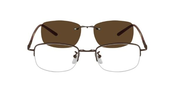 535cad4550766 Amazon.com  583615 Metal Alloy Half Rim Frame with Polarized Magnetic Snap-on  Sunlens  Health   Personal Care