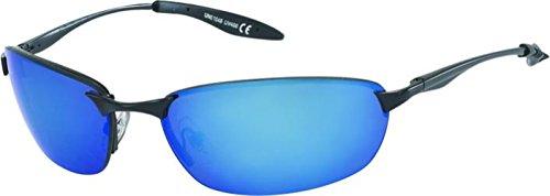 étroite hommes net Des de sport miroir sportif 400UV bleu teintées Bleu cadre soleil lunettes de Chic lunettes sans qzIwIPg