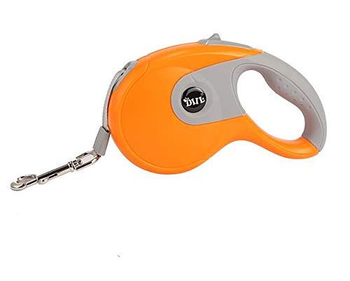 orange 5 orange 5 Retractable Dog Leash, Heavy Duty Dog Walking Leash with Anti-Slip Handle Strong Nylon Ribbon Extends 10 16ft One Button Brake & Lock Tangle-Free,orange,5