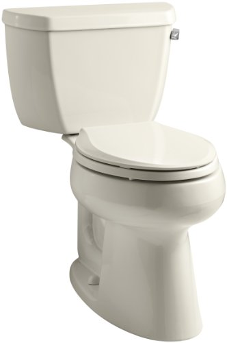 KOHLER K-3658-RA-47 Highline Classic Comfort Height Two-Piece Elongated 1.28 Gpf Toilet with Class Five Flush Technology and Right-Hand Trip Lever, -
