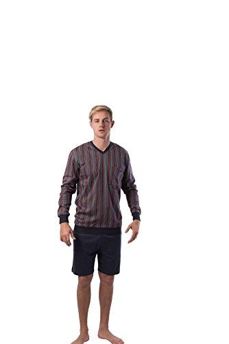 Calida Pajama - calida Mens v-Neck 100% Cotton Short Sleeve Short Pants Pajamas Set varies Print (1983, Medium)