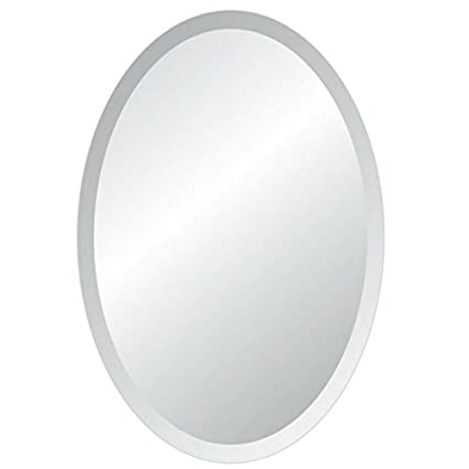 Beau 24u0026quot; X 36u0026quot; Oval Frameless Bevel Wall Mirror