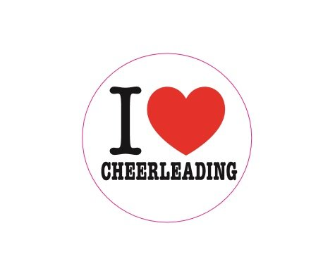 500 I Love Cheerleading Stickers (One Roll of 500 Stickers)