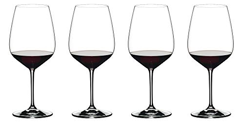 Riedel Exclusive Vinum Extreme Set of 4 Wine Glasses, Red Wine, Ideal For Cabernet, Bourdeaux (Best Wine Glasses For Red Wine)