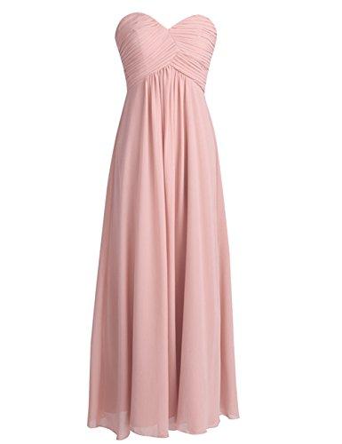 ASBridal Open Prom Bridesmaid Dresses Dress Black Long Sweetheart Back Chiffon Pleated 18rqfw1O