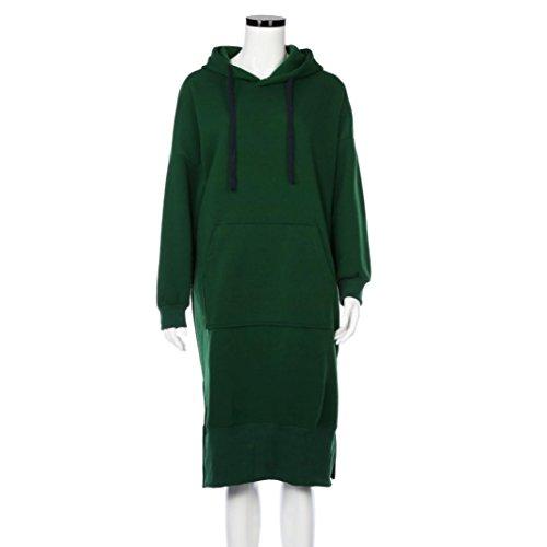Women Blouse, Neartime Women Casual Hood Sweatshirt Hooded Ladies Long Pullover Tops (L5, Green) by NEARTIME (Image #1)