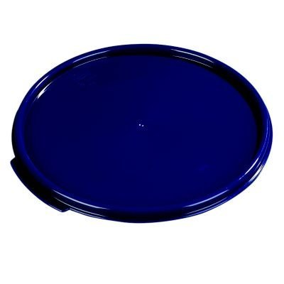 Carlisle Polypropylene Cobalt Blue Round Lid Only, 12 to 1/32 inch -- 1 each. by Carlisle