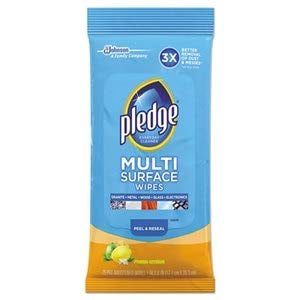 Multi-Surface Cleaner Wet Wipes, Cloth, 7 x 10, 25/Pack, 12/