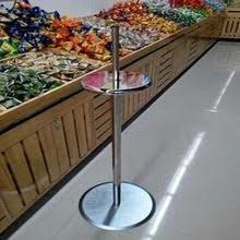 Single Head Roll Bag Produce Or Bakery Dispenser / Holder Floor Standing Model, Heavy Duty, Adjustable Height by Market Fizz