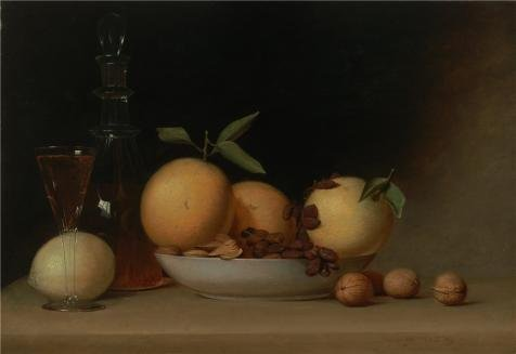 Oil Painting 'Raphaelle Peale,Still Life With Liqueur And Fruit,1814' Printing On High (Beaded Pearl Fruit Bowl)