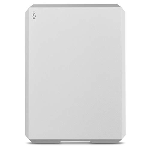 LaCie Mobile Drive, 1 TB, USB-C , Draagbare Externe Harde Schijf Voor Mac Zilver, Met Rescue Services (STGH1000400)