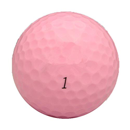 oldzon Quality Dual Spin 55 Compression Golf Balls, Pink (2 Packs of 12) with Ebook by oldzon