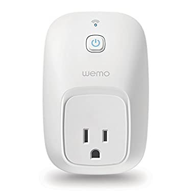 Wemo Switch, Wi-Fi Smart Plug, Control Lights and Appliances From Your Phone, Works with Amazon Alexa