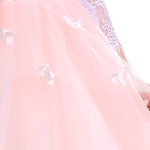 Costume 13 Demoiselle Cocktail Soirée Multi 2 002 Princesse Ans En De Fille Anniversaire Rose Dentelle Mariage Fête Baptême Florale D'honneur Cérémonie couches Robe Longue Tutu Habillée xZ7BwRZ