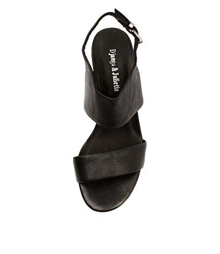 Womens JULIETTE Sandals amp; Leather DJANGO Shoes Carrie Black High Heels 1C4Bwq