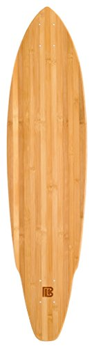 Bamboo Skateboards Hard Good Blank Long Board (Square Tail), 38.75 x 9.65-Inch, Natural (Board Blank Cruiser)