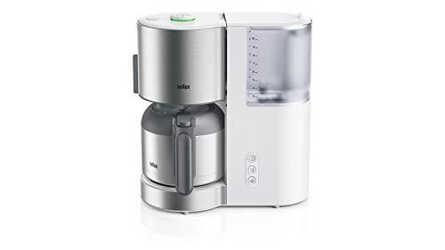 Braun KF 5105 WH – IDCollection – Cafetera de filtro, con AromaSelect y termo de 10 tazas, disfrute perfecto, 1000 W…