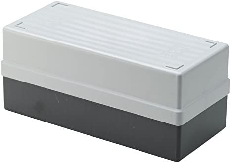 White Gepe 453701 Storage Box with Lid for 7 x 7 cm Slide Mounts ...