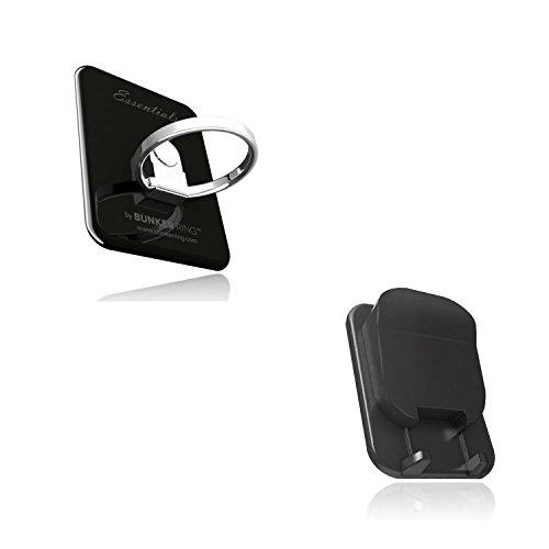 BUNKER RING Multi Holder Pack【차량 탑재 홀더부】bunker 링 아이폰/Galaxy/Xperia/스마트 폰・타블렛PC를 손가락1개에 유지(제트 블랙) BUMUJB
