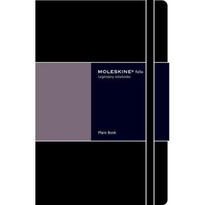 Folio Plain Notebook Moleskine Large Book Journal A4 with folder panel inside by Moleskine