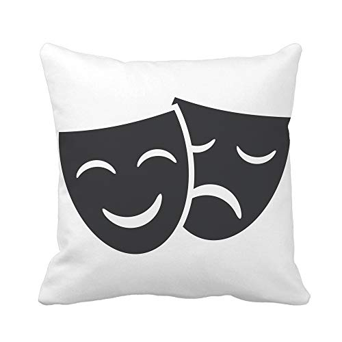 Greek Theatre Comedy Costumes - Awowee Throw Pillow Cover Theatre Theater